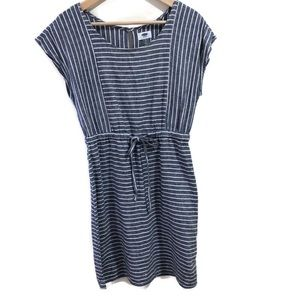 Old Navy Chambray Linen Striped Dress
